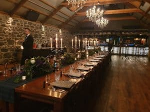 Glengfddich tasting table set up